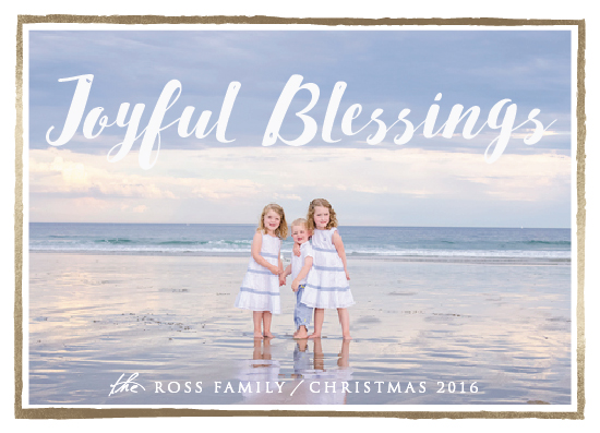 holiday photo cards - Joyful Blessings by Kate Ross
