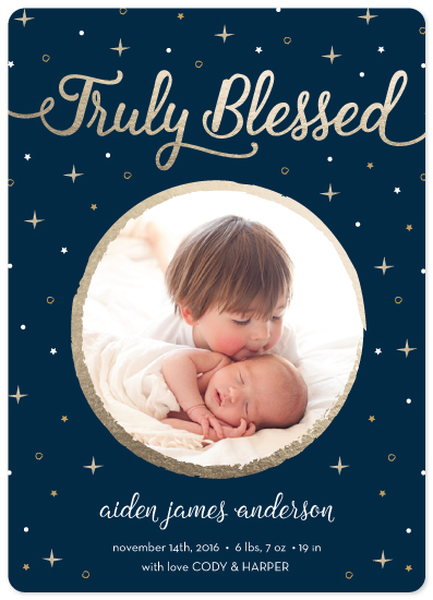 holiday photo cards - Blessed by Summer Winkelman