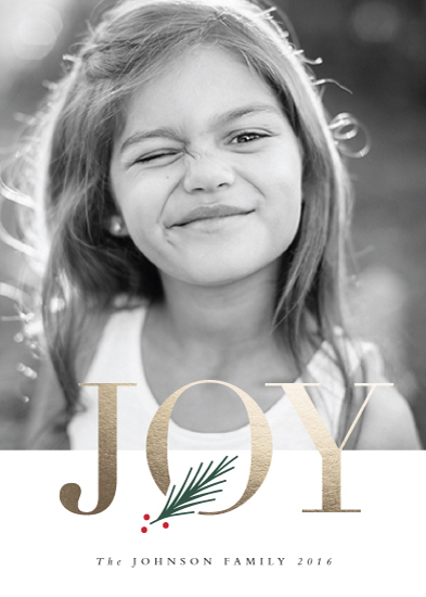 holiday photo cards - J O Y by Stacey Meacham