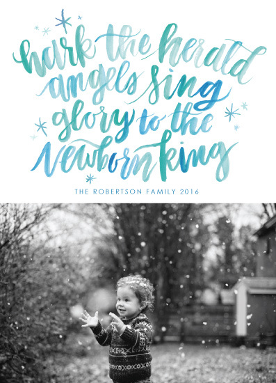 holiday photo cards - Hark the Herald Angels by Itsy Belle Studio