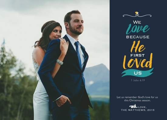 holiday photo cards - He Loves us by Cynthia N