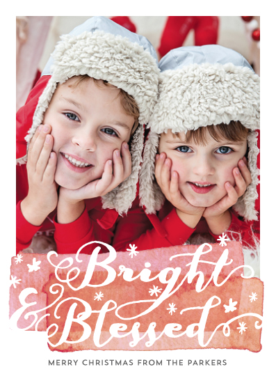 holiday photo cards - bright-n-blessed by shoshin studio