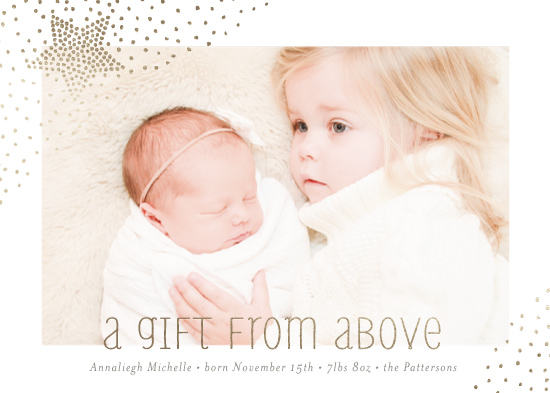 holiday photo cards - starry gift from above by Dawn Jasper