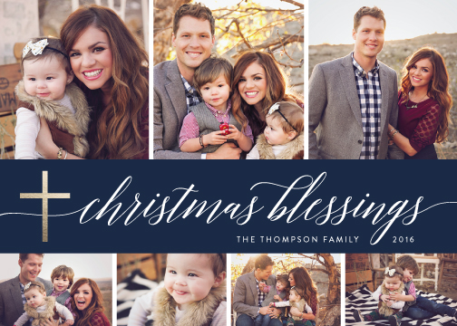 holiday photo cards - Blessings Collage by Nicole Barreto