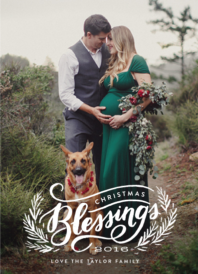 holiday photo cards - Christmas Blessing Branches by Alethea and Ruth