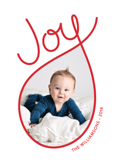 holiday photo cards - Joy-filled by Kim Dietrich Elam