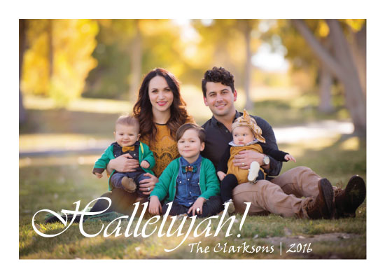 holiday photo cards - Hallelujah! by cr8explore