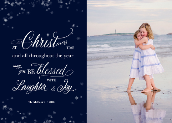holiday photo cards - Blessed at Christmas Time by Nely McMullen