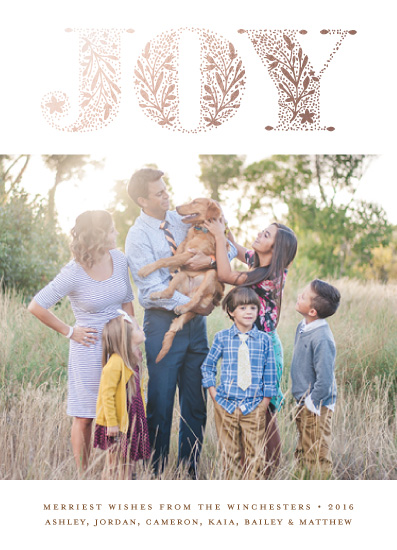 holiday photo cards - Organic Joy by Bonjour Paper