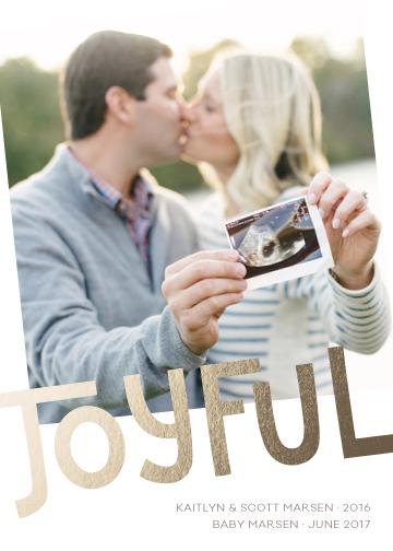 holiday photo cards - Joyful Pregnancy Tidings by Melissa Casey