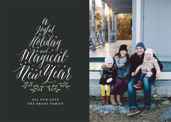 holiday photo cards - JoyfulTree by Gray Star Design