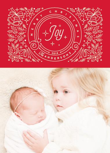 holiday photo cards - Festive Holiday by Ana Sharpe