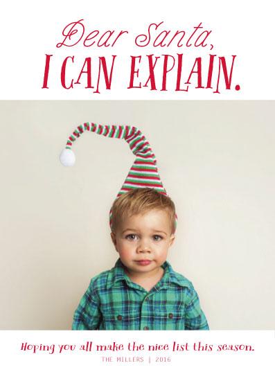holiday photo cards - I Can Explain by Hannah Williams