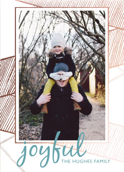 holiday photo cards - Gold & Mint by Danielle Romo