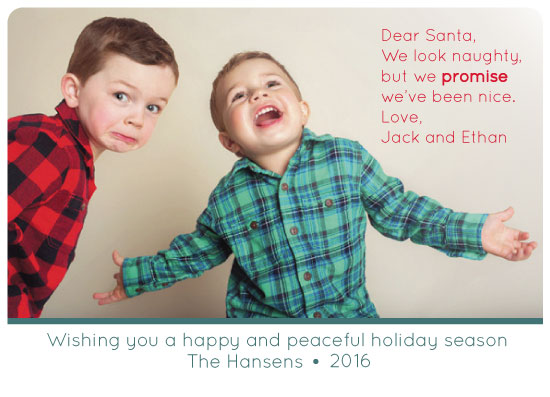 holiday photo cards - We just LOOK naughty by MJ Roebuck