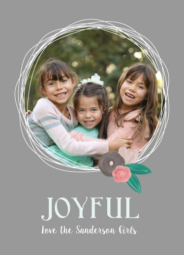 holiday photo cards - repeat the sounding joy by Pippi and Penelope