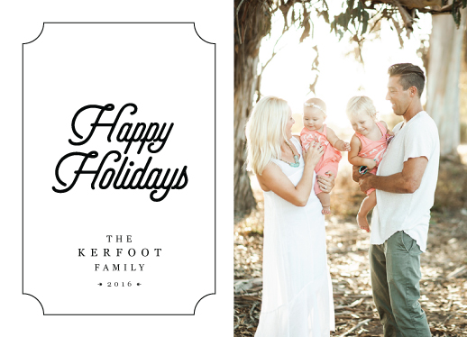 holiday photo cards - Happy Holidays 16 by Benjamin Parnell