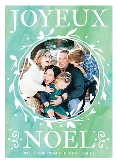 holiday photo cards - Joyeux Noel by Stephanie Jarry