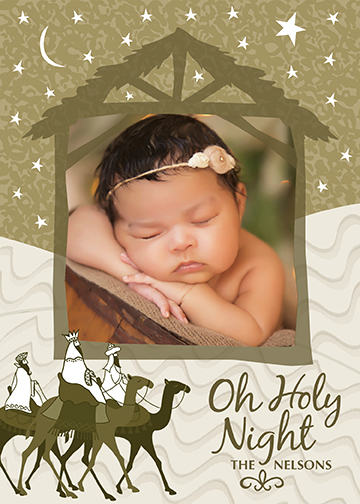 holiday photo cards - Oh Holy Night by Valerie Hart