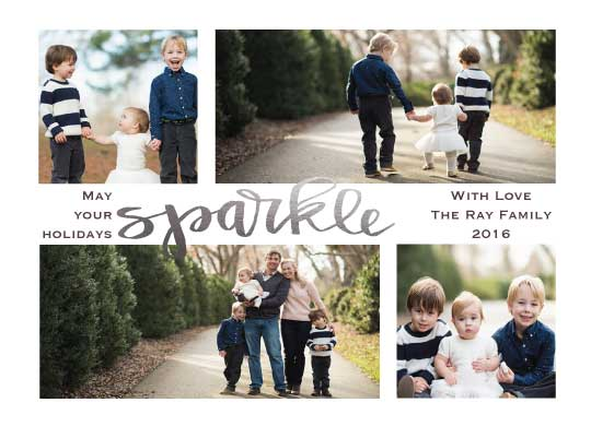 holiday photo cards - May your holidays sparkle by Amanda Ray