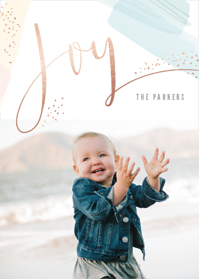 holiday photo cards - Modern Joy by Hooray Creative