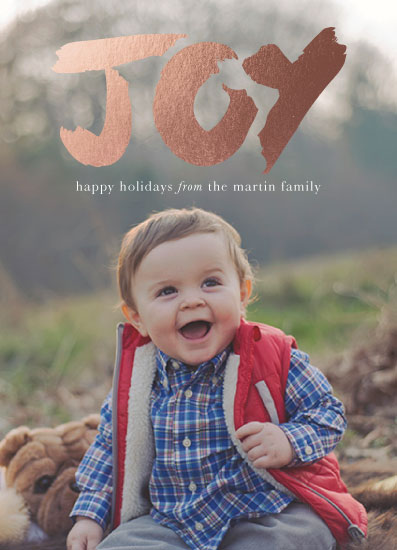 holiday photo cards - Big Joy by Bethany Anderson