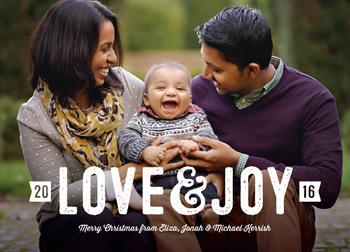 Stamped love and joy