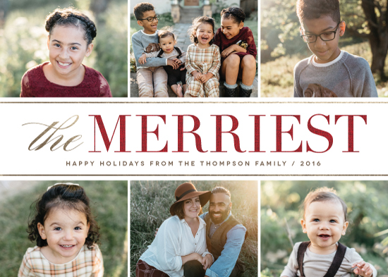 holiday photo cards - The Very Merriest by Kelly Nasuta