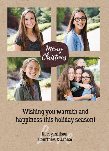 holiday photo cards - Warmth and Happiness by Dandelion Paper Co.