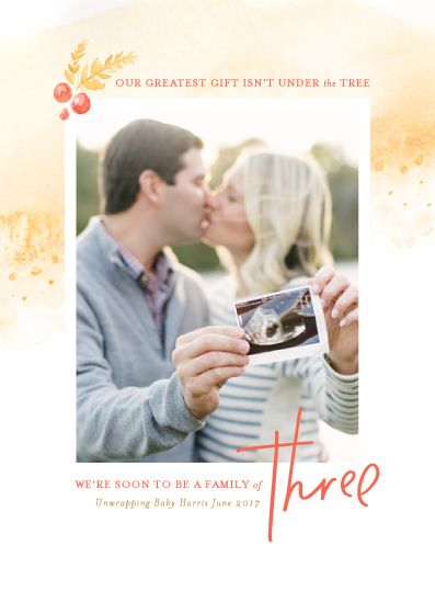 holiday photo cards - Party of Three by Pink House Press