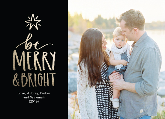 holiday photo cards - Star Bright and Merry by Katie Grantier