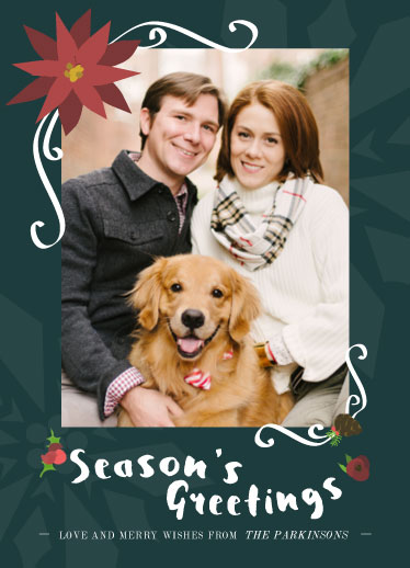 holiday photo cards - A Very Crimson Christmas by Laurie Beasley