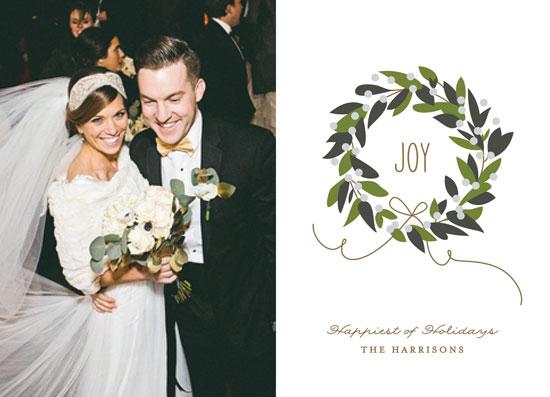 holiday photo cards - Magnolia Wreath by Jennifer Postorino