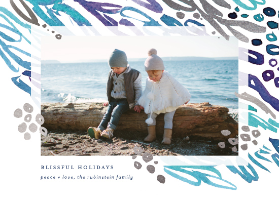 holiday photo cards - Blissful Bubbles by Simona Cavallaro