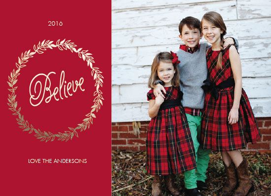holiday photo cards - I Believe by Neeta Sawhney