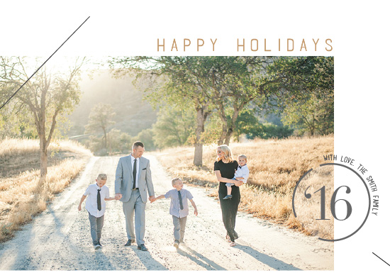 holiday photo cards - Modern Timestamp by Terra Link