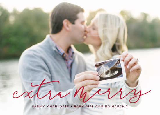 holiday photo cards - Extra Merry by Haley Warner