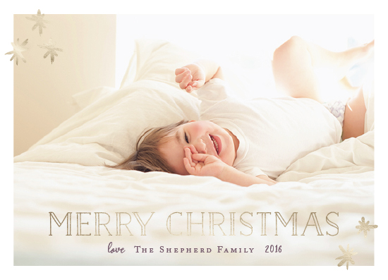 holiday photo cards - Shimmery Christmas by Kate Ross