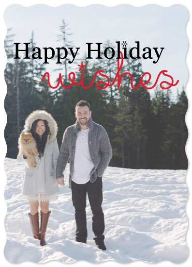 holiday photo cards - HolidayWishes by Christine Arrigo