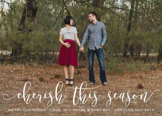 holiday photo cards - Cherish This Season by Chelsea Voorhees
