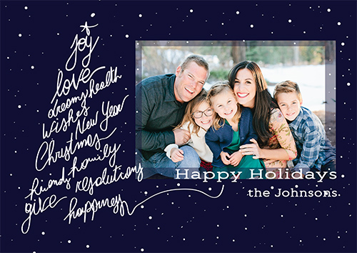holiday photo cards - Wishes' Tree by Caterina Cilio