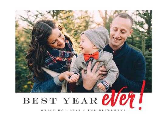 holiday photo cards - Best Ever by Jessica Williams