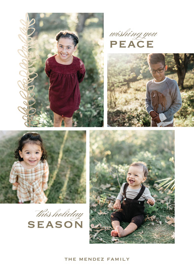 holiday photo cards - Earthy Floral by Gray Star Design