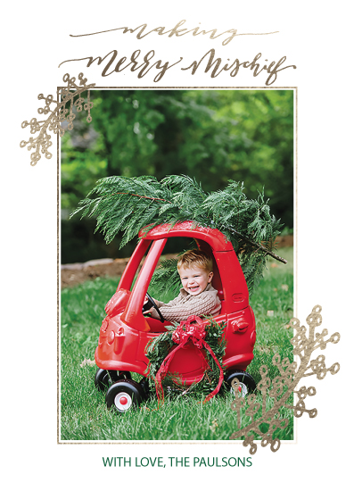 holiday photo cards - Merry Mischief by HOOKED Calligraphy