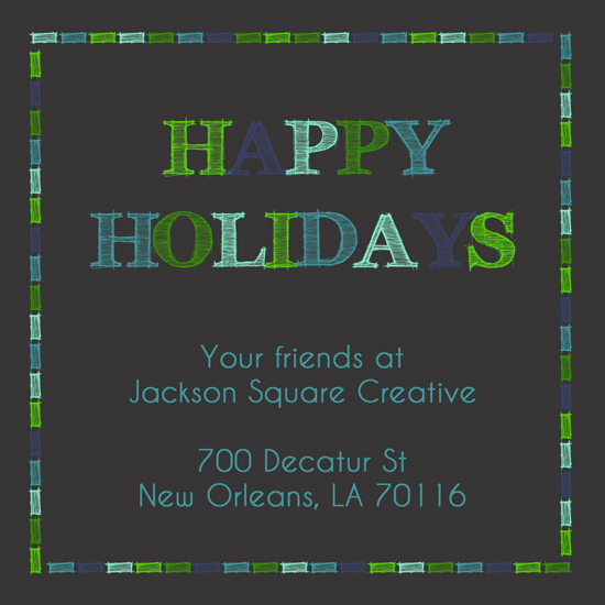 non-photo holiday cards - Holiday Cheer by Lindsey Kelly