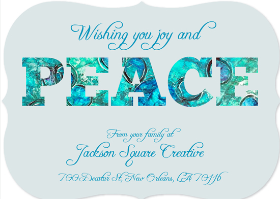 non-photo holiday cards - Peace by Lindsey Kelly