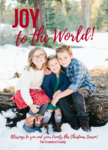 holiday photo cards - Joy and Blessings by Judith Clifford