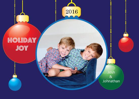 holiday photo cards - Holiday Joy by Mae Kwan