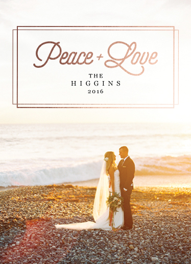 holiday photo cards - Peace and Love by Benjamin Parnell