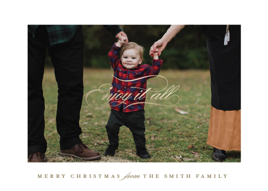 holiday photo cards - enjoy enjoy by Carrie ONeal
